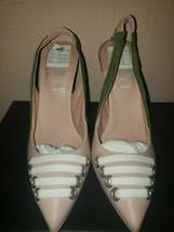 Puma Fenty Slingback Heel Silver Pink Olive Branch Women's Size 6 BNIB MSRP $400 - $90.00