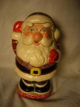 Vaillancourt Folk Art Round Jolly Gingerbread Santa Signed Low Number image 1