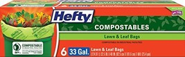 Hefty Lawn & Leaf Large Compost Bags - 33 Gallon - £4.10 GBP