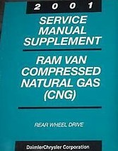 2001 Dodge Ram Van Wagon Service Repair Shop Manual Supplement Natural Gas Cng - $13.97