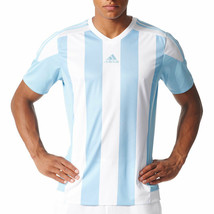 Adidas Originals Striped 15 Jersey Men's Shortsleeve T-Shirt White-Blue ... - $36.95
