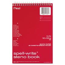 Spell Write Wirebound Steno Book, Gregg Rule, 6 x 9, White, 80 Sheets - $18.89