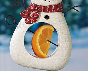 Snowman Seed And Fruit Feeder