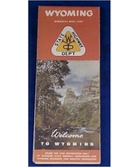 Road  Map, Vintage 1951 Wyoming  - $7.50