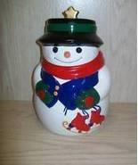 """Cookie Jar Snow Man 10 """" Tall Allure 1998 - $9.95"""