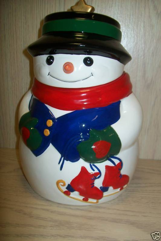 "Cookie Jar Snow Man 10 "" Tall Allure 1998 image 2"