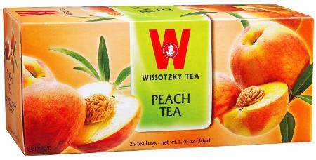 Wissotzky Herbal Peach Fruit Tea - 25 bags