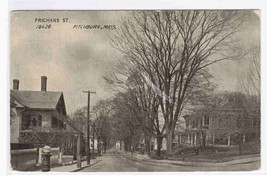 Prichard Street Fitchburg Massachusetts 1909 postcard - $4.46