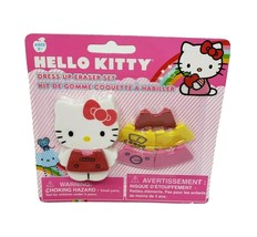 NEW IN PACKAGE SANRIO HELLO KITTY DRESS UP ERASER SET CHANGE HER SHIRTS ... - $12.20