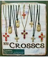 Vintage Mini Crosses Gumball Vending Machine Charms Header Display Card ... - £28.79 GBP