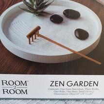 Room2Room Desktop Circular Desktop Tabletop Sand Zen Garden with Rake image 3