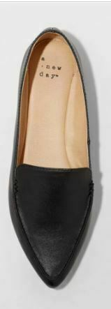 Women's Micah Pointed Toe Closed Loafers - A New Day Black 8