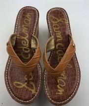 Sam Edelman Romy Size 9 /39 Tan Flip Flop Platform Wedge Sandals - $11.52
