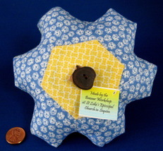 Pin Cushion Vintage Fabrics Hand Made USA New - $16.00