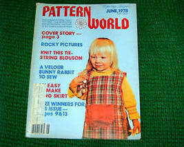 Pattern World, June 1978, Variety  of Needlecrafts - $3.00
