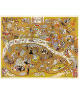 """Early Pictorial Map of Paris, France 11""""x14"""" Wall Art Poster Print Decor... - $12.38"""