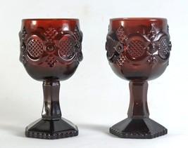 Avon Cape Cod Royal Ruby 4 1/2 Inch Goblet Pair - $8.80
