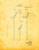 Walking-stick Patent Print - Golden Look - $7.95+