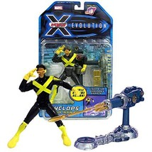 Marvel Year 2001 X-Men Evolution 6 Inch Tall Figure - Cyclops with Op-Tech Train - $49.99