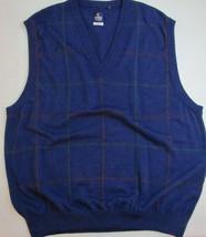 CALLAWAY Sweater Vest Size XL Navy Blue Merino WOOL V-neck ITALY NORDSTROM - $39.55