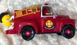 "M & M Dispenser Red Yellow Fire Truck Engine 12"" Lgth x 4.5"" wide x 5"" tall - $12.19"