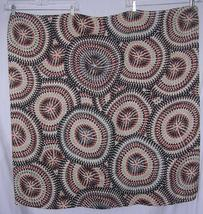 Echo Gray Red Ivory Brown Black Op Art Scarf 36 square - $33.96