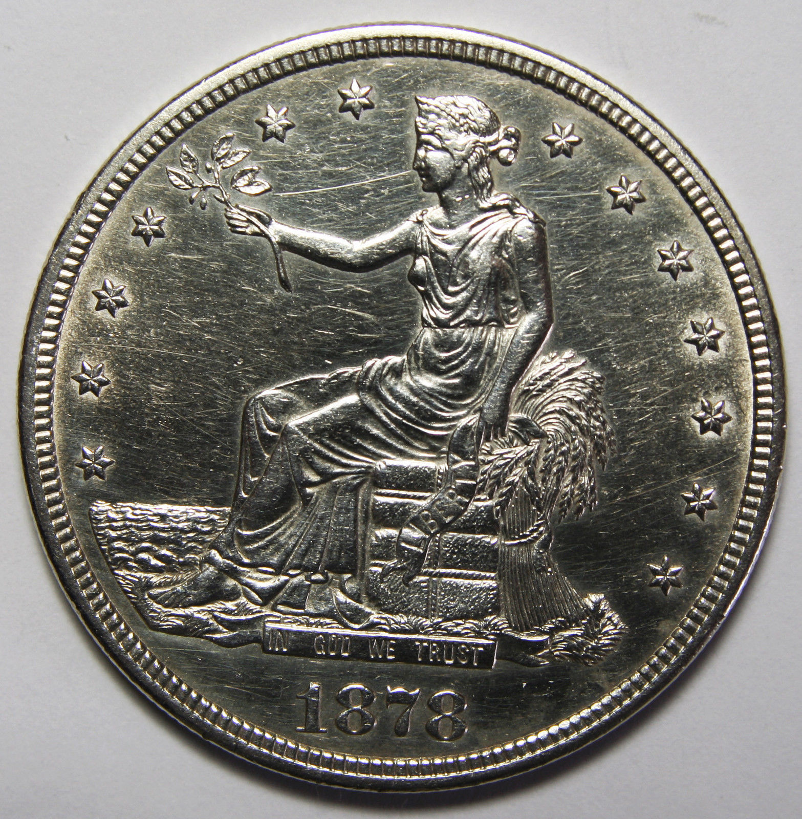 1878S T $1 Trade Dollar Silver Coin Lot# MZ 3952