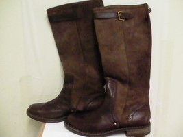 Women's Ugg Boots Castille Size 5.5 Brown Leather Fashion Knee-High - $230.02