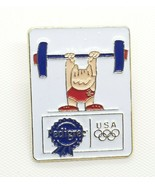 VTG Collectible Pin - 1992 Barcelona Olympic Weightlifting Cobi Pedigree Enamel  - $7.72