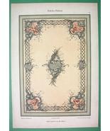 ROCOCO CEILING - 1895 COLOR Litho Print Dekorative Vorbilder - $17.96