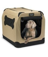 Portable Crate Indoor/Outdoor Pet Home Dog Carrier Tote Bed Cage House C... - £44.50 GBP