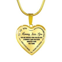 Gift For Boy Mommy Love You To My Son Heart Pendant Perfect For Child /T... - $45.95