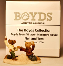 Boyds Town Village - Neil and Tom - Miniature Figure - $7.75
