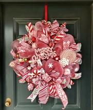 Candy cane wreath, Nutcracker wreath, christmas wreath, whimsical wreath - $111.84
