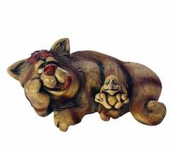 Cat figurine Beasties sculpture anthropomorphic bird Orlando signed Raya... - $77.35
