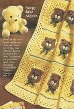 Sleepy Bears Baby Afghan Granny Squares Crochet Pattern~OOP - $14.99