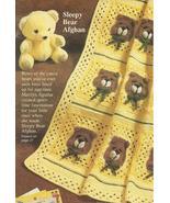 Sleepy Bears Baby Afghan Granny Squares Crochet... - £11.51 GBP