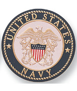 "US NAVY Service Medallion / Seal, Aluminum, 2"" Diameter, Peel and Stick ... - $6.00"