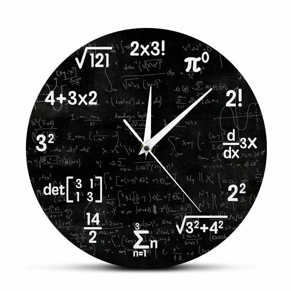 Primary image for Mathematics Wall Clock Formulas Graduation Gift for Teacher Math Lover Decor
