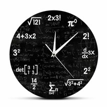 Mathematics Wall Clock Formulas Graduation Gift for Teacher Math Lover D... - $41.79