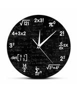 Mathematics Wall Clock Formulas Graduation Gift for Teacher Math Lover D... - $41.79