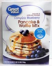 Great Value Complete Blueberry Pancake & Waffle Mix 28 oz - $4.46