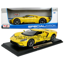 Maisto Special Edition 1:18 Scale Die Cast Car Yellow Sports Coupe 2017 FORD GT - $49.99