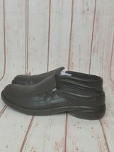 MERRELL Women's Black Leather Loafers Flats Slide On Shoes Size 6.5 - $28.71