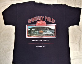 Chicago Cubs Adult X-Large Wrigley Field T-Shirt (XL 2016 World Champs ... - $9.95