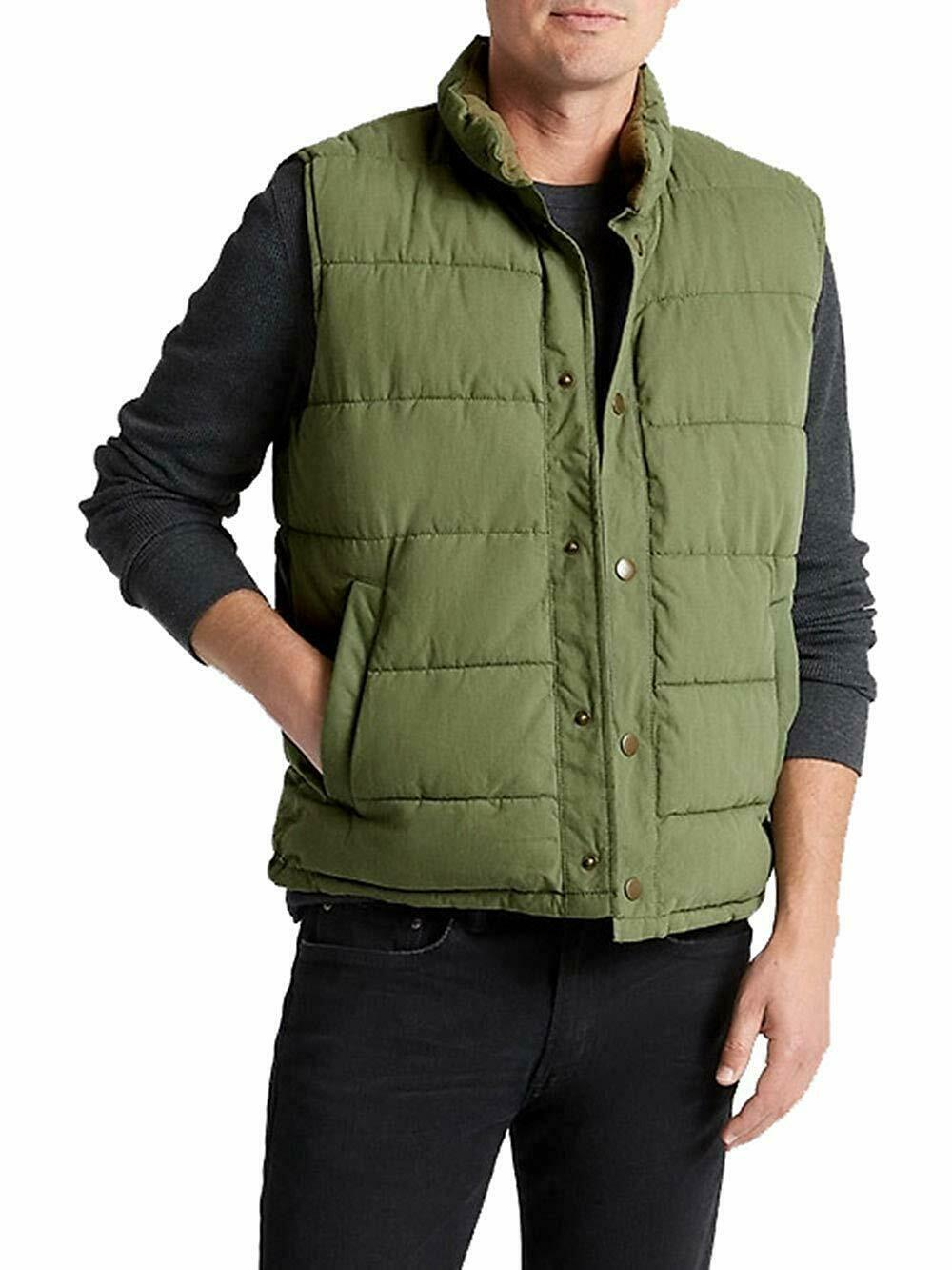 Primary image for Gap Mens Cactus Green Full Zip Warmest Puffer Vest Jacket Coat Small S 7615-5M
