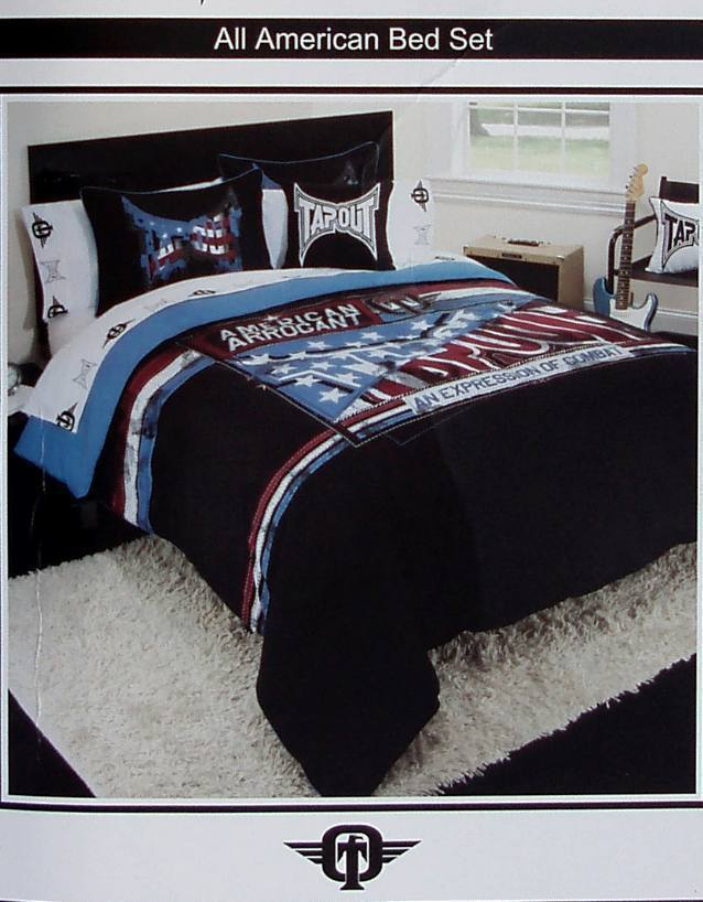 ,TAPOUT ALL AMERICAN QUEEN COMFORTER SHEETS SHAMS PILLOW 8PC BEDDING NEW