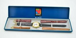 Lorus Mickey Unlimited Disney Interchangeable Quartz Leather Watch 6A70 - $49.49