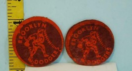 Two Vintage Brooklyn Dodgers Round Baseball Patches - $34.65