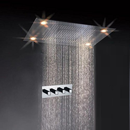 Primary image for Cascada Classic Design 31 Inch (600mmx800mm) Large Rain Shower Set with Waterfal